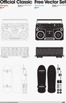 official,classic,set,vector pack,boombox,radio,stereo,skateboard,train car,boom,box,train,car,official,classic,1,official,classic