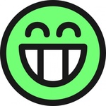flat,grin,smiley,emotion,icon,emoticon