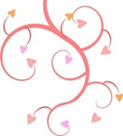 michaeldarkblue,growing,heart,remix,vine,swirl,curl,pink,valentine,clip art,media,public domain,image,svg,jpg,png