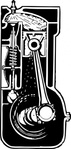 engine,cross,section,motor,power,cross section,car,media,clip art,externalsource,public domain,image,png,svg