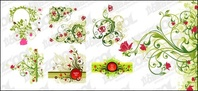 green,flower,pattern,combination,material