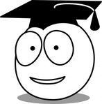 buddy,graduate,cartoon,smiley,school,education,media,clip art,public domain,image,svg