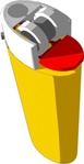 yellow,lighter,fire,plastic,igniter,ignitor,media,clip art,public domain,image,png,svg