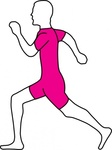 running,clip art,remix,media,public domain,image,png,svg,people,man,outline,contour,colour,pink,run,jog,jogging,training,exercise,sport