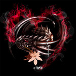 dragon,heart,illustration,dark,gothic,flower,graphic,design,design