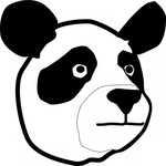 panda,head,media,clip art,public domain,image,svg,bear,animal,cartoon,face,colouring book