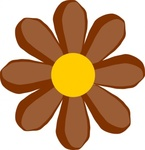 brown,flower,media,clip art,public domain,image,png,svg