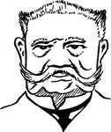 paul,hindenburg,cartoon,caricature,man,person,military,germany,statesman,history,famous-people,media,clip art,externalsource,public domain,image,svg