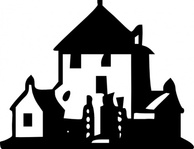 haunted,house,back and white,simple,small,icon,media,clip art,externalsource,public domain,image,svg