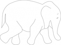 elephant,outline