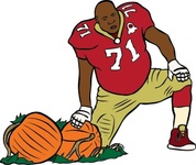 football,player,pumpkin,person,man,athlete,sport,media,clip art,public domain,image,svg
