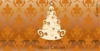 vintage,christmas,tree,orange,background,wallpaper