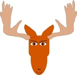 moose,animal,cartoon,mammal,face,media,clip art,public domain,image,svg,png