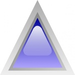 triangular,blue,button,glossy,triangle