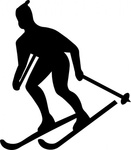 skier,silhouette,remix,skiier silhouette,clip art,media,public domain,image,png,svg