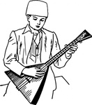 playing,balalaika,people,music,musical instrument,string instrument,boy,drawing,line art,black and white,contour,coloring book,outline,musical instrument,string instrument,wikimedia common,psf,musical instrument,string instrument,wikimedia common