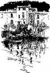 water,home,boat,town,village,france,media,clip art,externalsource,public domain,image,png,svg