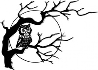 tree,branch,media,clip art,externalsource,public domain,image,png,svg,cartoon,animal,bird,owl,halloween,moon,spooky,dafont