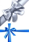blue,silver,ribbon,concept,conceptual,element,gift,realistic,shiny