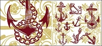 anchor,with,pattern,vector,material