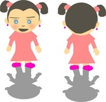 little,girl,cartoon,clip