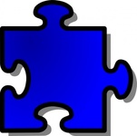 blue,jigsaw,piece,puzzle,game,shape,media,clip art,public domain,image,png,svg