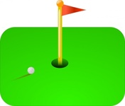 golf,flag,ball