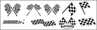 black,white,checkered,racing,flag,material