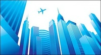 city,high,rise,building,plane,modern