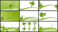 wind,power,reduce,emission,tree,hillside