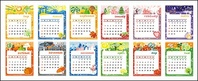 lovely,calendar,template,material