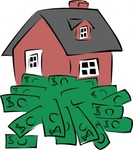 house,sitting,pile,money,building,real estate