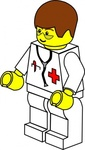 pitr,lego,town,doctor,people,toy,figure,minifig,job,medical