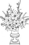 lily,bouquet,remix,flower,vase,line art,clip art,media,public domain,image,png,svg