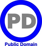 public,domain,icon,blue