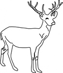 deer,animal,line art,media,clip art,public domain,image,png,svg