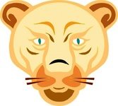 lion,face,cartoon,media,clip art,public domain,image,png,svg,animal,mammal,feline,head,colour