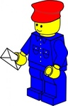 lego,town,postman,toy,figure,job