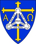 coat,arm,anglican,diocese,trinidadincludes,christian,symbol,cross,alpha,omega,shield,trinity