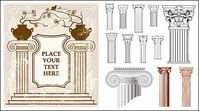 european,style,classical,column,pattern,vector,material