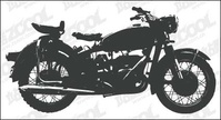 motorcycle,silhouette,vector,material