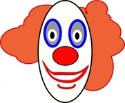 creepy,clown,face,media,clip art,public domain,image,png,svg,circus,entertainment