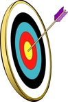 arrow,gold,target,archery,bullseye,color,media,clip art,public domain,image,png,svg