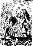 pitr,alice,wonderland,card,flying,remix,alice in wonderland,literature,john tenniel,clip art,media,public domain,image,png,svg