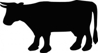 silhouette,cow,farm,animal,outline