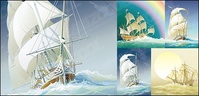 sailing,ship,boast,exquisite,ancient,material