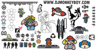 mixed,_mixed,logo,sign,dj,monkey,turntable,boy,character,girl,skull,money,car,rose,bullet,camera,helicopter,silhouette