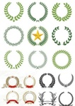 laurel wreaths pattern design,laurel,wreath,pattern