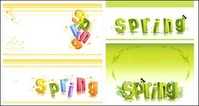 spring,three,dimensional,character,alphabet,pattern,vector