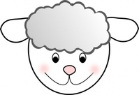 smiling,good,sheep,animal,media,clip art,public domain,image,svg,png
